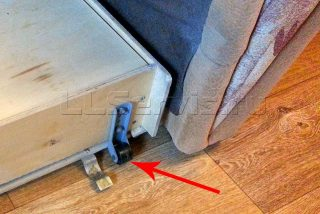 диван с выкаткой